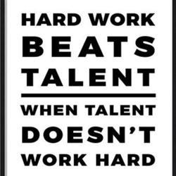 Hard work beats talent Clubhouse