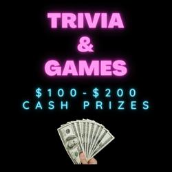 TRIVIA & GAMES - 100$ cash prize Clubhouse